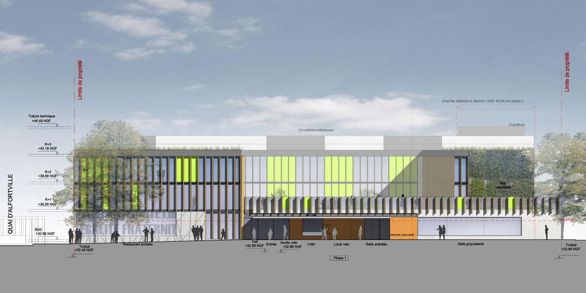 Alfortville (94) / Groupe scolaire ZAC des Bords de Marne