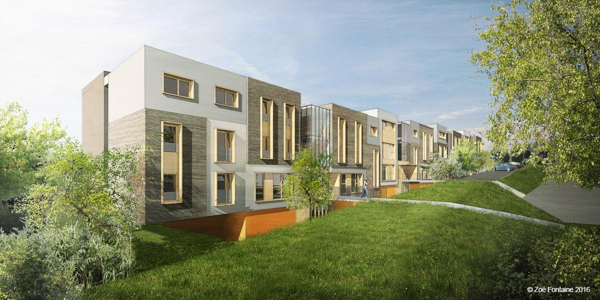 Méru (60) : Démolition - Reconstruction d'une résidence sociale d'une centaine de chambres