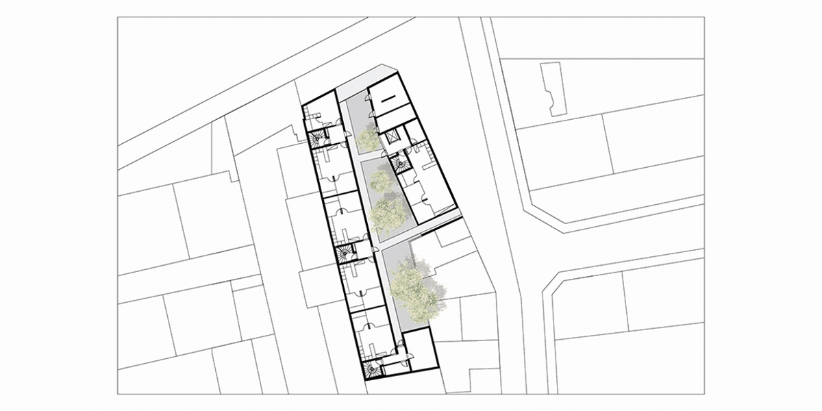 Le Pré St Gervais (93) / 24 logements locatifs sociaux.